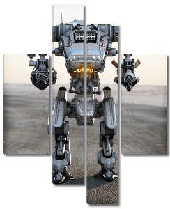 Робот футуристический меч оружие
