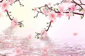 Сакура над водой