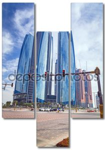 Etihad towers зданий в Абу-Даби, ОАЭ