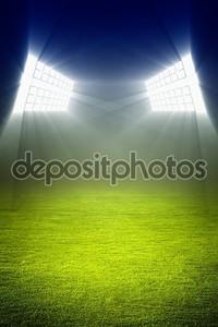 зеленое футбольное поле
