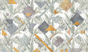 Орнамент из листьев и геометрических фигур
