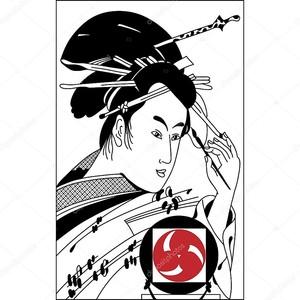 Самурай. Рисунок тушью