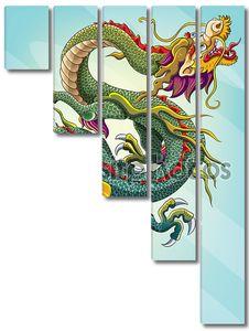 Картина с китайским драконом