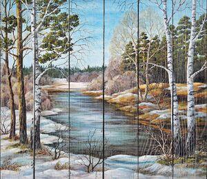 Весна на сибирской реке