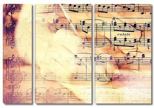 Двойной экспозиции, рука на фоновой музыки