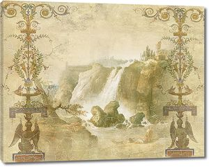Водопад в сепии