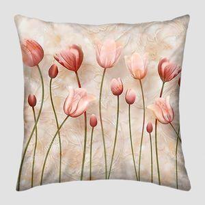 Деликатный фон с тюльпанами