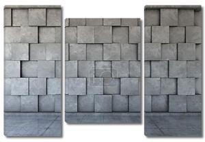Стена из серых бетонных блоков