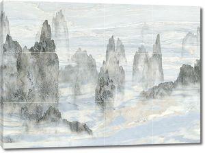Рисунок скал на плитке