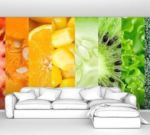 Коллекция из разных фруктов и овощей