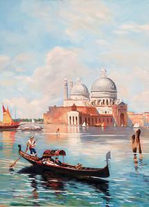 Прекрасная фреска с видом на Венецию