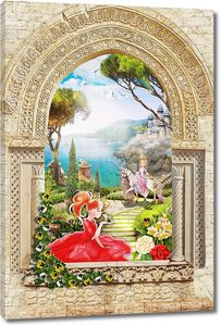 Арка с принцессой