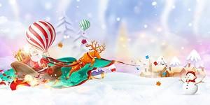Санта-Клаус в санях
