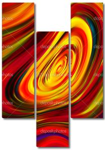 Яркая волнами абстракция