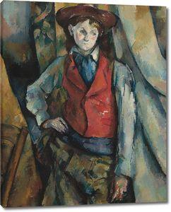 Поль Сезанн. Мальчик в красном жилете, 1888