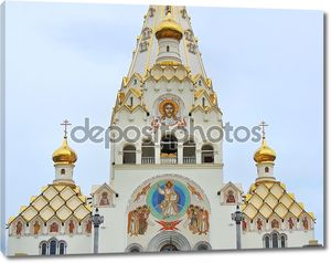 Orthodox Cathedral of all Saints in the city of Minsk in Belarus.