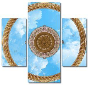 Два круга с узорами на небе