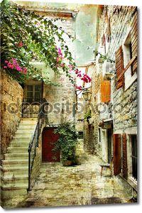 Двор старого Хорватия - картина в стиле живописи
