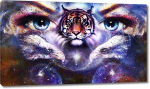 Орлы и тигр  с глазами женщины