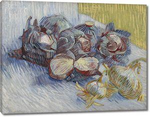 Ван Гог. Натюрморт с красной капустой и луком