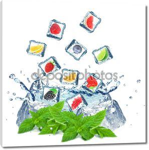 ягоды и цитрусовых всплеск