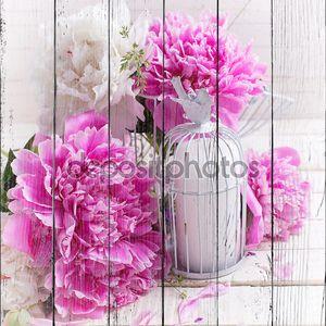 свежие Розовые пионы