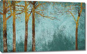 Рисунок деревьев по штукатурке