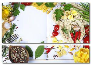 Различные макароны и специи