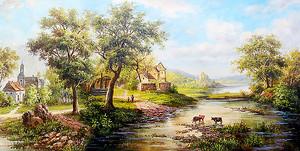 Коровы на реке