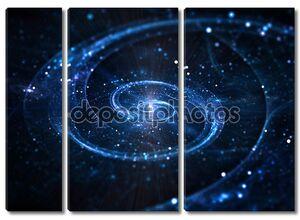 Спиральная галактика в глубоком космосе
