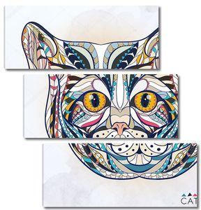 Этническая голова кошки