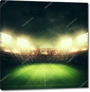 Футбольный стадион ночью