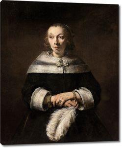Рембрандт. Портрет дамы с перьями страуса в роли веера