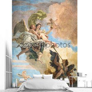 Деталь фрески «Триумф добродетели и разведки на