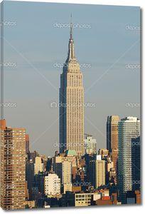 Empire State Building close seup, Manhattan, New York City