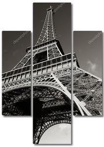 Черно-белое фото Эйфелевой башни