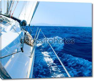 Яхта. Парусный спорт. Яхты. Туризм. Роскошь жизни