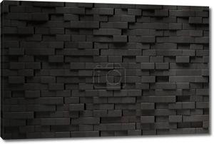 Черная кирпичная стена 3D.