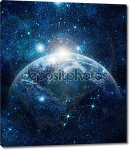 Реалистичные планеты Земля в пространстве