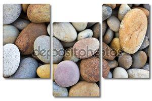 Абстрактный фон с круглой Пибл камни