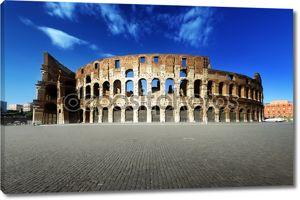 Закат и Колизей в Риме, Италия