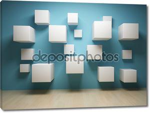 Абстрактный кубов в интерьере