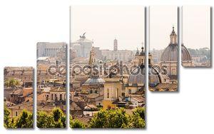 Рим обзор с памятником и несколько куполов