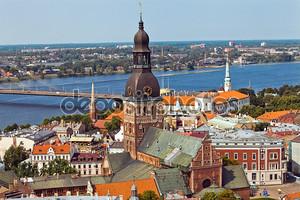 Вид на город Панорама Риги