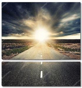 Дорога прямо к закату