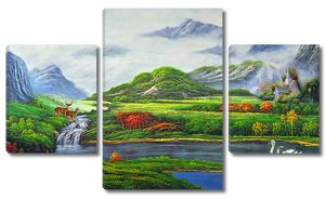 Островки осени на реке