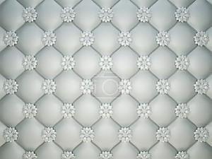 белый сшитый кожаный образец