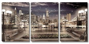 Вид с террасы на ночной город