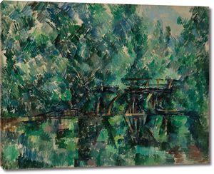 Поль Сезанн. Мост над прудом