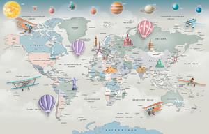 Карта мира с планетами